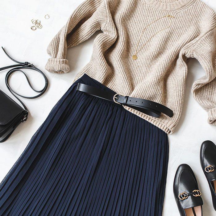 【最速でオシャレに見せる一着】秋の装いにオススメのプリーツスカート